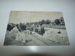 VOSGES GIRANCOURT LE PORT PENICHE A L'ARRET DEVANT LE QUAI DE CHARGEMENT 18 NOVEMBRE 1912 - Autres Communes