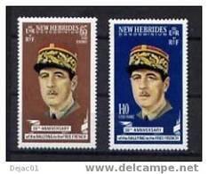 NOUVELLES HEBRIDES - Général De Gaulle - Yvert 296/297 - Neuf Xxx - De Gaulle (General)