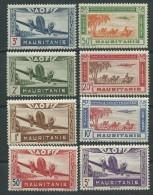 MAURITANIE  P.A. N° 10 / 17 X La Série Des 8 Valeurs Trace De Charnière Sinon TB - Ungebraucht