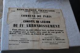 PLACARD DE LA COMMUNE DE PARIS NUMERO 299 - Documents