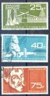 Polynésie Française - Poste Aérienne N°11 à 13 - Oblitérés - (F1138) - Poste Aérienne
