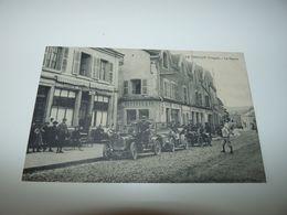 VOSGES LE THILLOT CAFE PIERREL TACOTS EN STATIONNEMENT DEVANT L'ETABLISSEMENT 19 DECEMBRE 1909 - Le Thillot