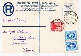EGYPTE, De Port Said En 1925 Lettre Recommandée  Pour La France TB - Égypte