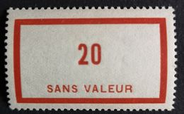 France Fictif N° F87 N** Luxe Gomme D'origine, TTB. Cote 2020 : 3 €. Voir Photos Recto Verso - Fictifs