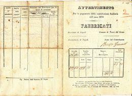 1870 TORRE DEL GRECO AVVERTIMENTO CONTRIBUZIONE SUI TERRENI - Unclassified