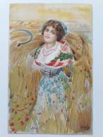 Carte Postale Région D'Italie Lombardia B Cascella Casa Del Pane S M La Regina Madre 1907 - Italie