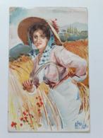 Carte Postale Région D'Italie Toscana B Cascella Casa Del Pane S M La Regina Madre 1907 - Italie