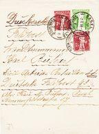 SUISSE, Bande De Journal  De Basle En 1918 Avec Complément  TB - Entiers Postaux