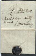 """L 1.2.1794 Marque DE LIEGE (6X38 Mm) + """"5"""" Pour Luxembourg - 1790-1794 (Révol. Autrich. Et Invas. Franç.)"""