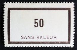 France Fictif N° F90 N* Gomme D'origine, TTB. Cote 2020 : 2,40 €. Voir Photos Recto Verso - Fictifs