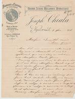 Htes ALPES: Joseph CHIALA, Scierie Hydro, Caisses, Etampage à Veynes / L. De 1906 - Alimentaire