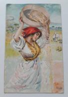 Carte Postale Région D'Italie Campania B Cascella Casa Del Pane S M La Regina Madre 1907 - Italie