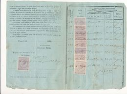 1869 META DI SORRENTO AVVERTIMENTO CONTRIBUZIONE SUI TERRENI - Vecchi Documenti