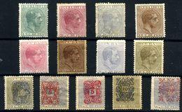 Cuba Nº 62/4, 69/72, 78, 80/1, 83, 86. Año 1881/3 - Nuevos