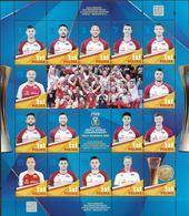 2018 Polen Mi. 5063-8**MNH Gewinn Der Volleyball-Weltmeisterschaft In Italien Und Bulgarien - Blocs & Hojas