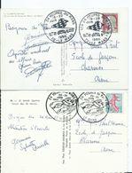 LOT DE 2 CARTES POSTALES OBLITERATION 24 DU MANS AUTOMOBILES - Postmark Collection (Covers)