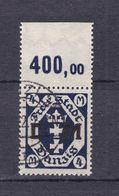Danzig - Dienstmarken - 1922 - Michel Nr. 20 P OR - Gestempelt - 240 Euro - Dantzig