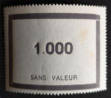 France Fictif N° F95 N** Luxe Gomme D'origine, TTB. Cote 2020 : 7 €. Voir Photos Recto Verso - Fictifs