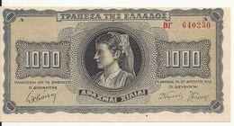 GRECE 1000 DRACHMAI 1942 UNC P 118 - Grecia