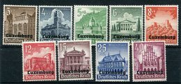 LUXEMBURG 1941 Overprint On Winter Relief LHM / *.  Michel 33-41 - Occupation 1938-45