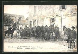 58 Saint-Laurent L'abbaye (nohain Cosne Cours Sur Loire) Etablissements Dutartre, Marchand De Chevaux Cafe Restaurant - Otros Municipios