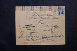 ALGÉRIE - Enveloppe De Alger Pour La France Et Retour  Et Redirigé Vers Bar/ Loup En 1952,ouverture Des Rebuts - L 63269 - Covers & Documents
