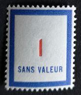 France Fictif N° F100 N** Luxe Gomme D'origine, TTB. Cote 2020 : 1 €. Voir Photos Recto Verso - Fictifs