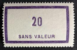 France Fictif N° F101 N* Gomme D'origine, TTB. Cote 2020 : 2 €. Voir Photos Recto Verso - Fictifs