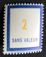 France Fictif N° F102 N** Luxe Gomme D'origine, TTB. Cote 2020 : 2 €. Voir Photos Recto Verso - Fictifs