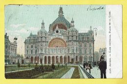 * Antwerpen - Anvers - Antwerp * (nr 2216) Gare Centrale, Place De La Gare, Animée, Railway Station, Bahnhof, Zoo, Rare - Antwerpen