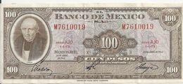 MEXIQUE 100 PESOS 1963 VF P 61 B - Messico