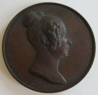 M02113  LOUISE MARIE D'ORLEANS - REINE DES BELGES - 1812-1850 - Son Profil (56g) Le Bon Ange De La Belgique... Au Revers - Royal / Of Nobility