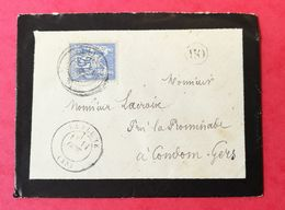 Lot Et Garonne. Enveloppe Avec Cachet De La Plume - Postmark Collection (Covers)