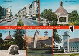 D-12099  Berlin -  Tempelhofer Damm - Luftbrückendenkmal - Cars - Opel - Renault 12 - VW Bus - Tempelhof