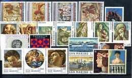 1975 SAN MARINO ANNATA COMPLETA MNH ** (ordinaria - Come Da Scansione) - Saint-Marin
