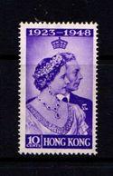 HONG  KONG    1948    Silver  Wedding    10c  Violet    MH - Hong Kong (...-1997)