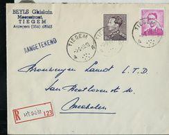 Doc. De TIEGEM - A A - Du 04/09/68 En Rec. - Marcophilie