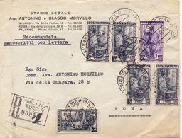 1951 Raccomandata Manoscritti Con Lettera - Italia A Lavoro - Sav - 1946-60: Marcofilia
