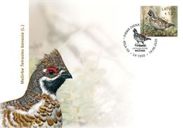 Latvia Lettland Lettonie 2020 (08-1) Birds Of Latvia - Hazel Grouse (unaddressed FDC) - Latvia