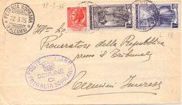 1955 Da Petralia Soprana Per Termini I. Con Italia A Lavoro - Sav - 6. 1946-.. Repubblica