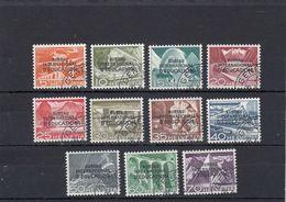 Suisse - Année 1950 - Service - Oblitéré - N°Zumstein 29/39 - BIE - Technique Et Paysage - Service