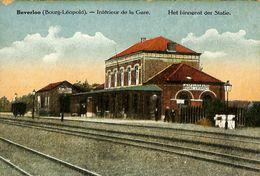 028 555 - CPA - Belgique - Leopoldsburg - Camp De Beverloo - Intérieur De La Gare - Leopoldsburg (Camp De Beverloo)