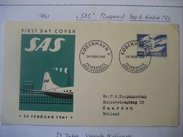 Dänemark 1961- FDC 10. Jahrestag Der SAS - FDC