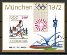 Senegal, 1972, Olympic Summer Games Munich 1972, Running, MNH Imperforated Sheet, Michel Block 10U - Senegal (1960-...)