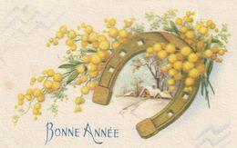 951- MIGNONNETTE MIGNONETTE BONNE ANNEE FER A CHEVAL MAISONS MIMOSA . M.D. PARIS 396 - Nouvel An
