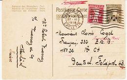SUISSE  De Neuchatel En 1918 Entier  Avec Complément 2 1/2 Pour L'allemagne TB - Entiers Postaux