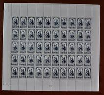 Feuille Complète De 50 Valeurs France 1948 N° 799 - PJ Proudhon 6F+5F - Feuilles Complètes