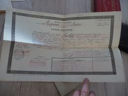Diplôme Congé Définitif Marine Et Colonies 1878 4 ème Régiment D'infanterie De La Marine - Documents