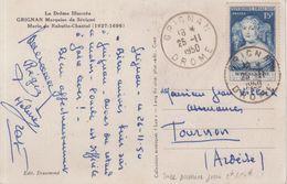FRANCE : N° 874 . OBL . 1er JOUR . SUR CARTE MAXIMUM . 25/11/1950 . - Marcofilia (Sellos Separados)