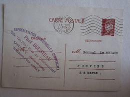 [91] Essonne Publicité Paul Bousteau Rue Chateaufort Orsay Entiers Postaux Pétain - Orsay